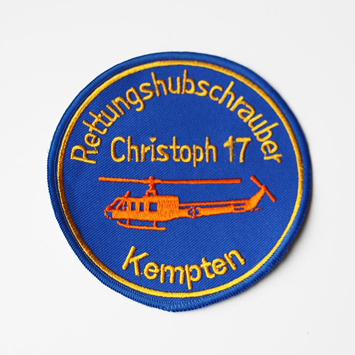 Stickerei Abzeichen Rettungshubschrauber Kempten