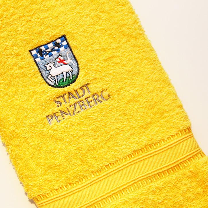 besticktes Handtuch der Stadt Penzberg